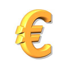 3d gold  euro sign.