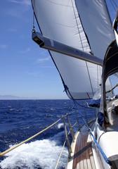 Mit der Yacht  in der Ägäis