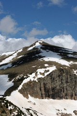 snowy mountain in national park rocky mountains,colorado