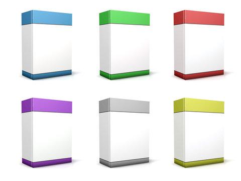 Packaging vertical 3D couleurs