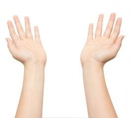 Hands raised to receive