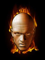 Flaming Head