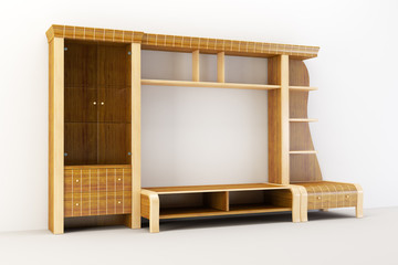 the modern cupboard 3d rendering