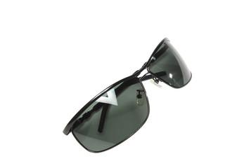 Black sunglasses isolated on white background.