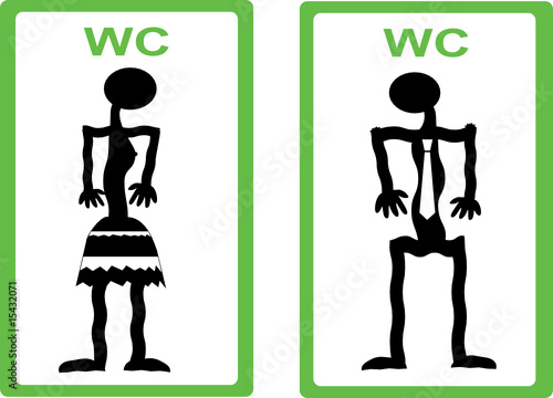 Men Women Symbols May Be Used As Wc Sign Stock Image And Royalty