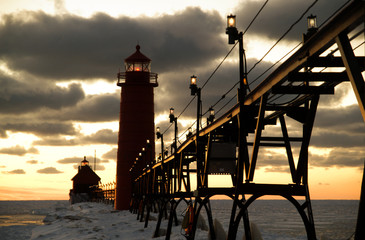 Sunset at Grand Haven Lighthouse