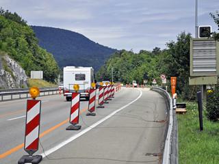 Ärgernis Autobahnbaustelle