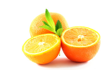 oranges and leaves of mint