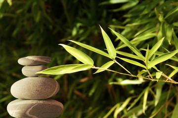 Galets et bambous