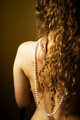 Woman and pearls