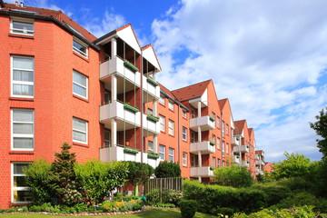 Wohnhaus im Grünen,Mehrfamilienhaus,Balkone,Deutschland