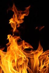Photo sur Aluminium Flamme flammes vives