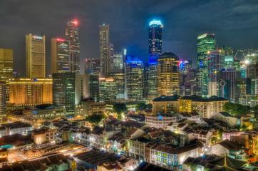 Foto op Plexiglas Singapore Singapore at Night