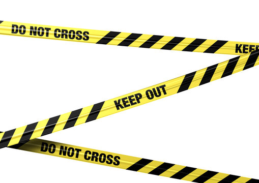 Banderole Do Not Cross