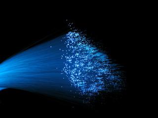 Blue Fiber Optic Light Bundle