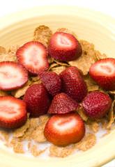 breakfast cereal strawberries
