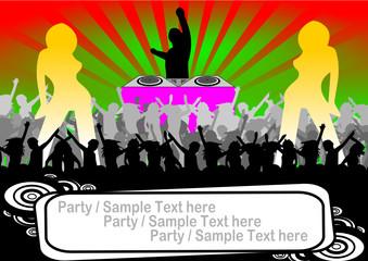 Flyer für Party