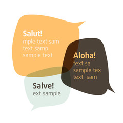 Let's talk. Vector bubbles. Insert your text.