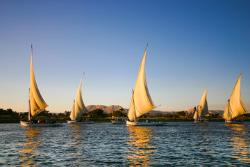 Printed roller blinds Egypt felucca on the Nile River
