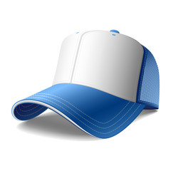 Blue cap. Vector. Insert your graphics.