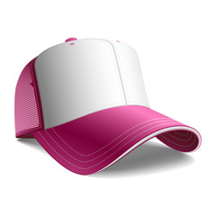 Pink cap. Vector. Insert your graphics.