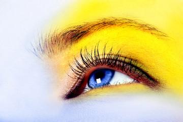 Bright, fashion eye, beautiful make up and bright color