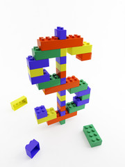 dollar lego multi color structure