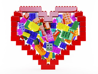 Heart lego color structure