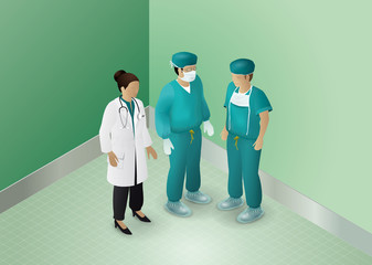 Doctor and surgeons