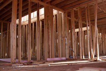 New Housing Interior Framing