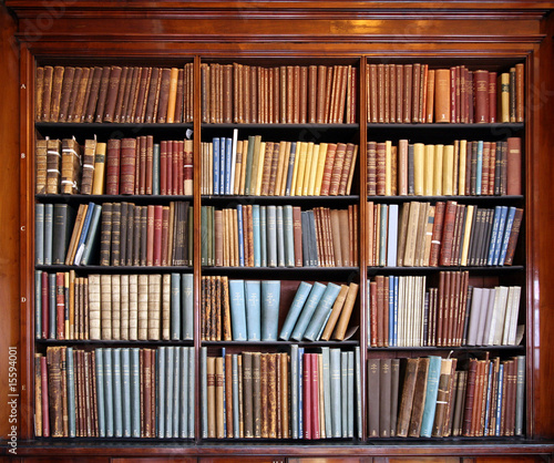 Quot Old Library Bookshelf Quot Stock Photo And Royalty Free