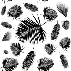 palm leaf seamless pattern