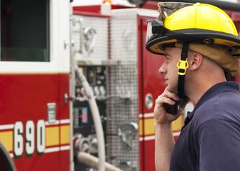 Firefighter truck operator