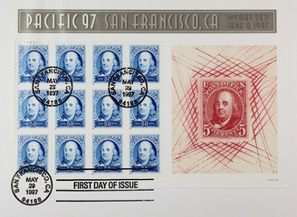 stamps of Pacific 92 - Franklin