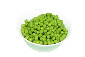 green peas in dish