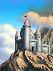 Printed roller blinds Castle Fantasy castle