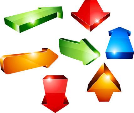 3d arrows