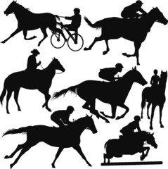 Racing horses-vector