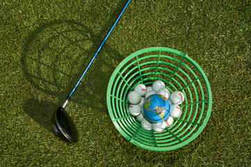 Planet in the golf basket