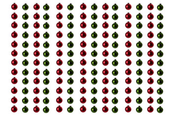 Over One Hundred Christmas Ornaments Red and Green