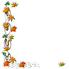 autumn scrapbook frame illustration