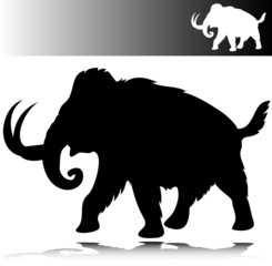 mammoth vector silhouettes