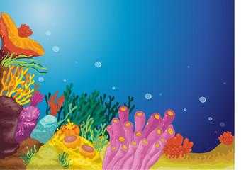 Poster Submarine sea plants