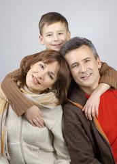 Happy family smiling