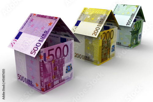 500 200 100 euro haus stockfotos und lizenzfreie bilder auf bild 15687650. Black Bedroom Furniture Sets. Home Design Ideas