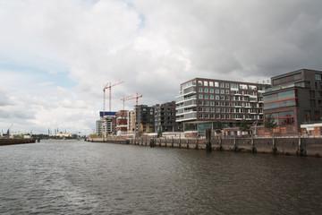 Hamburg Hafencity bewölkt