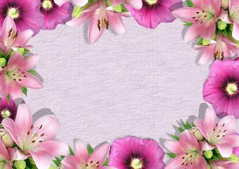 Framework from flowers 2