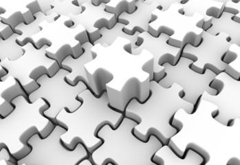 White Puzzle Scape