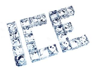 ICE Eiswürfelschriftzug