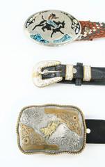 Cowboy belt buckles